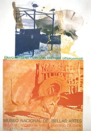 Robert Rauschenberg-ROCI: Chile-1985 Offset Lithograph-SIGNED