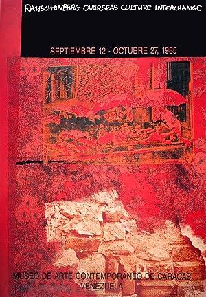 Robert Rauschenberg-ROCI: Venezuela-1985 Offset Lithograph-SIGNED: Rauschenberg, Robert