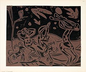 Pablo Picasso-Les Danseurs au Hibou-1962 Linocut: Picasso, Pablo