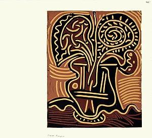 Pablo Picasso-Le vase de Fleurs-1962 Linocut: Picasso, Pablo