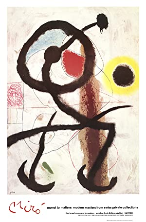 Joan Miro-The Bird-1988 Poster