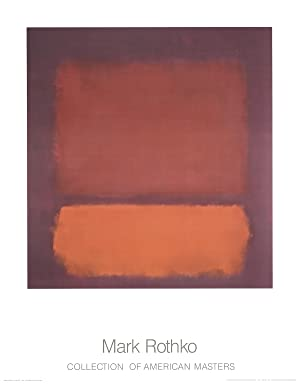 """MARK ROTHKO Untitled 1962 Orange 35.5/"""" x 27.5/"""" Poster Abstract Red"""