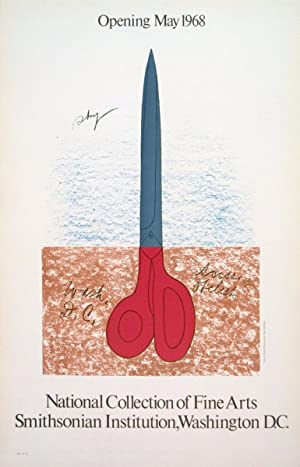 Claes Oldenburg-Scissors as Monument-1968 Mourlot Lithograph