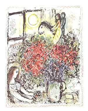 Marc Chagall-La Chevauchee (The Ride)-1979 Lithograph: Chagall, Marc
