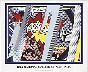 Roy Lichtenstein-Reflections on Crash-2013 Poster
