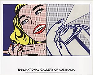 Roy Lichtenstein-Girl and Spray Can-2013 Poster