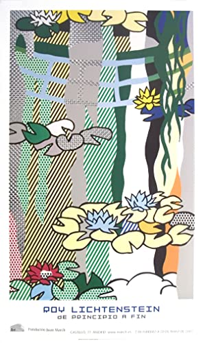 Roy Lichtenstein-Water Lilies with Japanese Bridge-2007 Poster