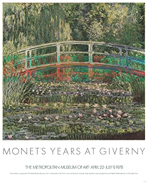 Claude Monet-Water Lilies and Japanese Bridge-1978 Poster