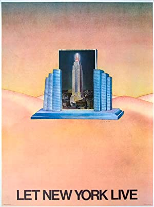 Jean-Michel Folon-Let New York Live-1980 Poster: Folon, Jean-Michel