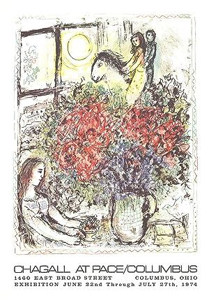 Marc Chagall-La Chevauchee-1979 Lithograph: Chagall, Marc