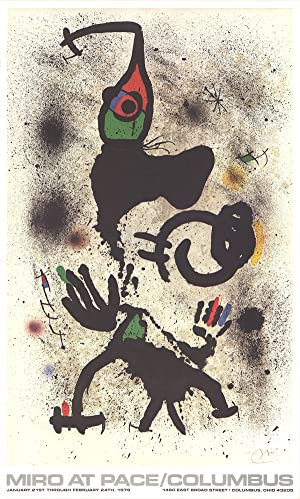 Joan Miro-At Pace-Columbus (vertical)-1979 Poster