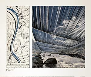 Javacheff Christo-Over the River, project for the Arkansas River--SIGNED