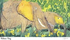 Walasse Ting-Elephants (sm)-1990 Poster: Ting, Walasse