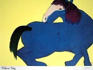 Walasse Ting-Blue Horse (sm)-1990 Poster: Ting, Walasse