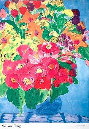 Walasse Ting-Flowers (sm)-1990 Poster: Ting, Walasse