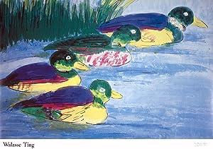 Walasse Ting-4 Ducks (sm)-1990 Poster: Ting, Walasse