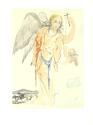 Salvador Dali-Angel with Cross-Lithograph