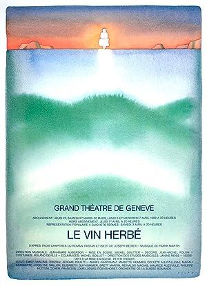 "JEAN-MICHEL FOLON Le Vin Herbe 34.75"" x: Folon, Jean-Michel"
