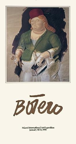 Fernando Botero-Mujer con Sombrero Rojo-1991 Poster: Botero, Fernando