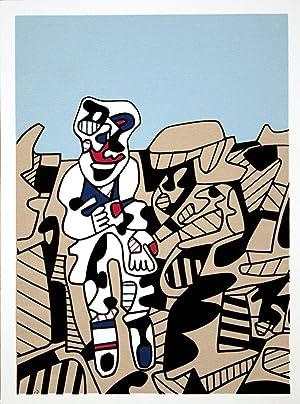Jean Dubuffet-Simulacres-1974 Serigraph: Dubuffet, Jean