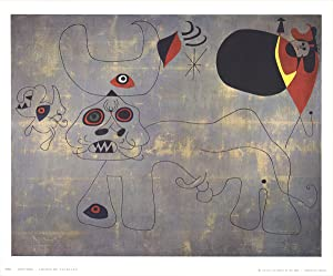 Joan Miro-The Bullfight-1974 Poster