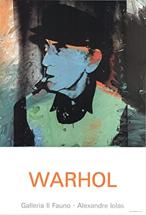 Andy Warhol-Portrait of Man Ray-Poster