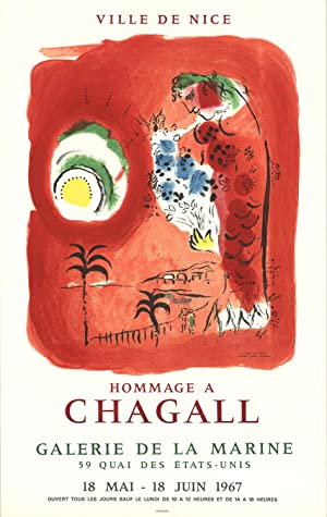 Marc Chagall-Ville De Nice-1967 Mourlot Lithograph: Chagall, Marc