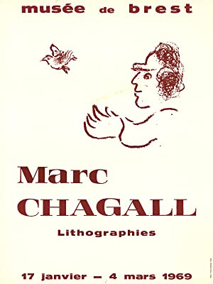 Marc Chagall-Musee de Brest-1969 Poster: Chagall, Marc