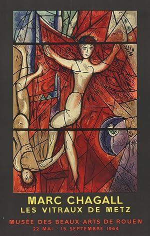 Marc Chagall-Les Vitraux de Metz-1964 Mourlot Lithograph: Chagall, Marc