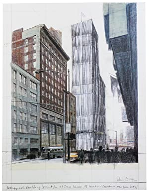 Javacheff Christo-Wrapped Building Times Square-2003 Mixed Media-SIGNED