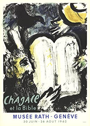 Marc Chagall-Moses and the Tablets of the: Chagall, Marc