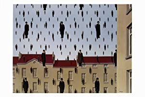 Rene Magritte-Golconde (md, with border)-Poster: Magritte, Rene