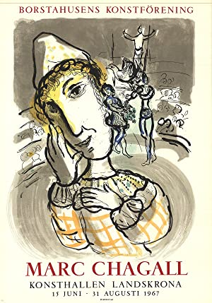 Marc Chagall-Circus with Yellow Clown-1967 Mourlot Lithograph: Chagall, Marc