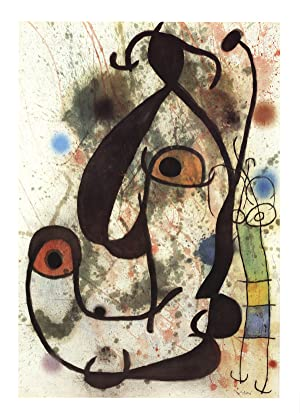 Joan Miro-Man and Woman (No text)-Poster