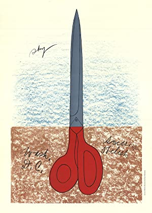 Claes Oldenburg-Scissors as Monument (No text)-1968 Mourlot Lithograph