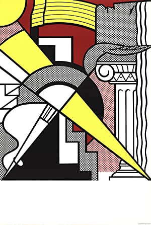 Roy Lichtenstein-Arrow and Column-1967 Lithograph