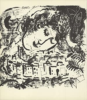 Marc Chagall-The Village-1957 Mourlot Lithograph: Chagall, Marc
