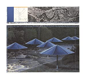 Javacheff Christo-The Blue Umbrellas-Poster