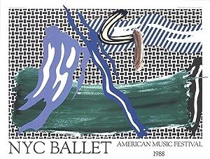 Roy Lichtenstein-NYC Ballet American Music Festival-1988 Poster: Lichtenstein, Roy
