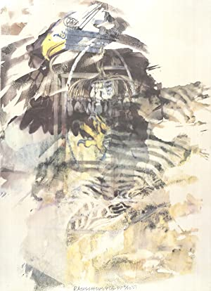 Robert Rauschenberg-Eagle-1997 Offset Lithograph-SIGNED