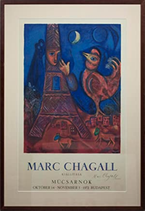 """MARC CHAGALL Good Morning Paris SIGNED 40.25"""": Chagall, Marc"""