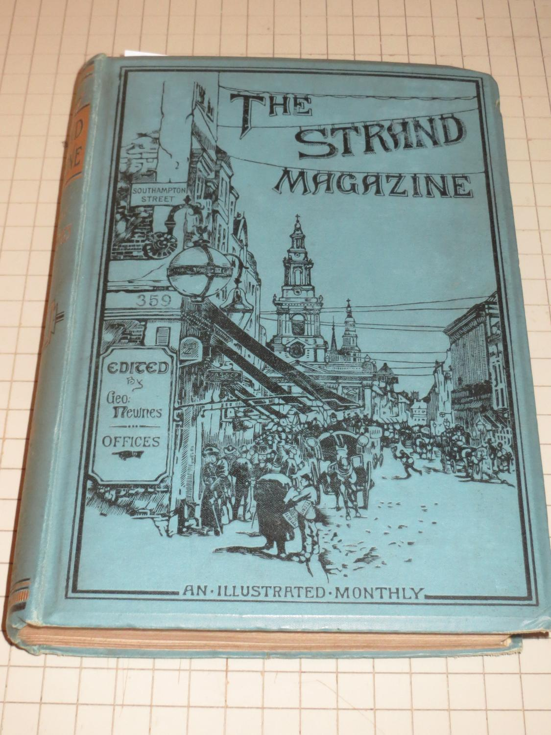 1892 Stramd Magazine Bound Vol. - Sherlock Holmes Stories - Adventure of the Blue Carbuncle - ...