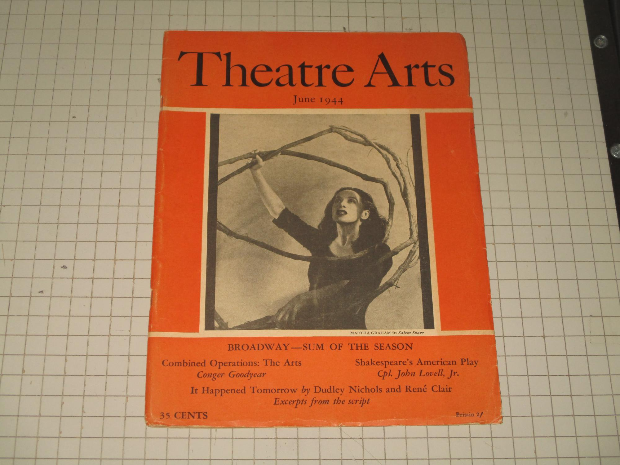 June 1944 Theatre Arts Magazine Martha Graham Paul Robeson Shakespeare S American Play War Fronts Film Fronts A New Hamlet 1944 Magazine Nbsp Nbsp Periodical Rareviewbooks