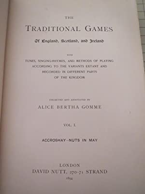 Dictionary of British Folklore,Part 1 - Traditional Games of England, Scotland and Ireland (Vol.1):...