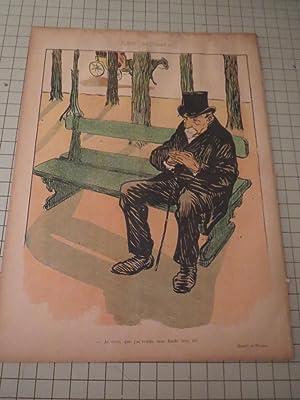 """1897 Le Rire Magazine - Toulouse Lautrec Cover Art """"Snobisme"""": Henri Toulouse Lautrec"""