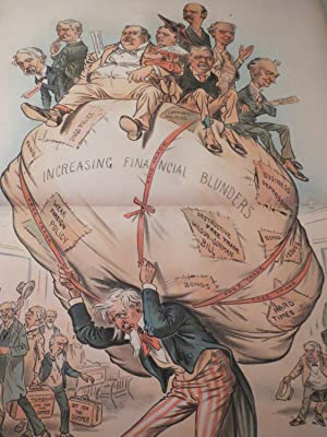 """1896 Judge Lithograph of """"That Terrible Burden"""" - Uncle Sam Under Increasing Financial ..."""