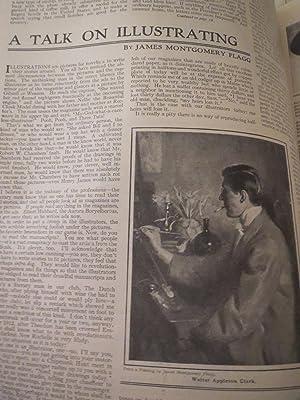 1911Sunday Magazine of The Sunday Star,Washington,D.C. - Girl With St. Bernard Dog Cover Art (...