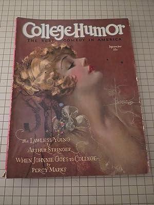 1927 College Humor Magazine:Rolf Armstrong - Westbrook Pegler - John Held,Jr. - Crazy Over Horses -...
