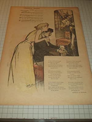"5 Avril 1896 Gil Blas - Illustrated French Magazine - Theophile Steinlen Cover Art ""La Mare&..."