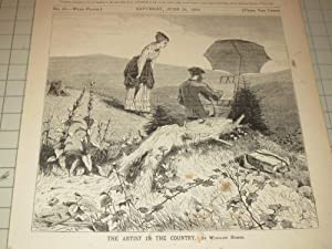 """1869 Winslow Homer Illustration """"The Artist in the Country"""": Winslow Homer"""